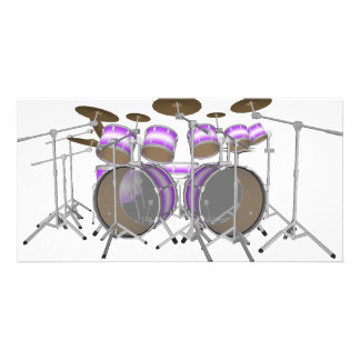 Drums: Purple & White Drum Kit: 3D Model: Photo Card