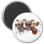 Drums: Red Drum Kit: 3D Model: 2 Inch Round Magnet