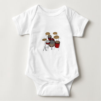 Drums: Red Drum Kit: 3D Model: Baby Bodysuit