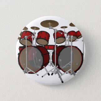 Drums: Red Drum Kit: 3D Model: Button