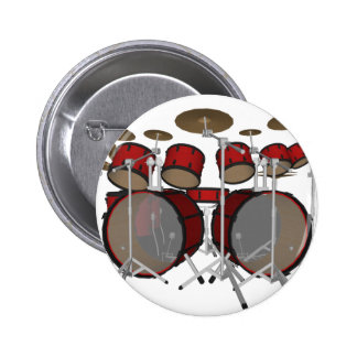 Drums: Red Drum Kit: 3D Model: Button