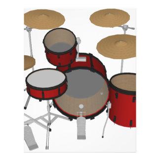Drums: Red Drum Kit: 3D Model: Flyer