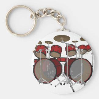 Drums: Red Drum Kit: 3D Model: Keychains