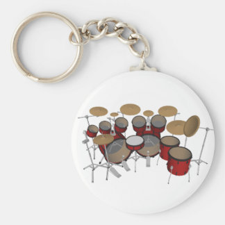 Drums: Red Drum Kit: 3D Model: Key Chains