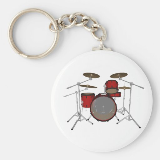 Drums: Red Drum Kit: 3D Model: Keychain
