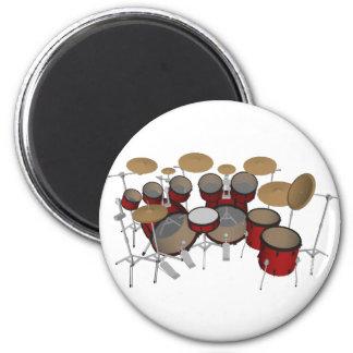 Drums: Red Drum Kit: 3D Model: Magnet