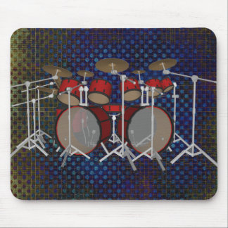Drums: Red Drum Kit: 3D Model: Mousepad