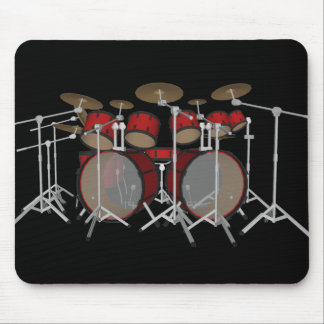 Drums: Red Drum Kit: 3D Model: Mousepad