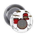 Drums: Red Drum Kit: 3D Model: Pinback Buttons