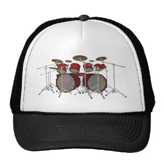 Drums: Red Drum Kit: 3D Model: Trucker Hat