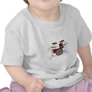 Drums: Red Drum Kit: 3D Model: Tshirts