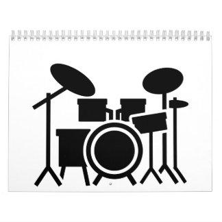 Drums set calendar