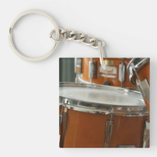 Drums Single-Sided Square Acrylic Keychain