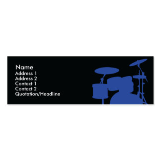 Drums - Skinny Mini Business Card