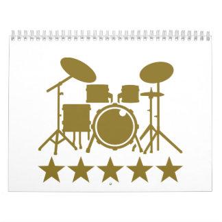 Drums stars calendar