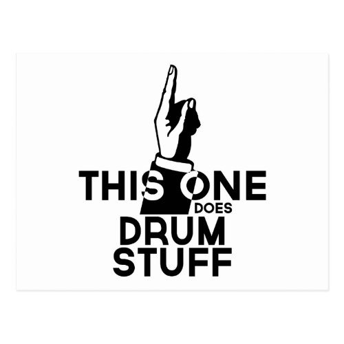 Drums Stuff _ Funny Drums Music Postcard