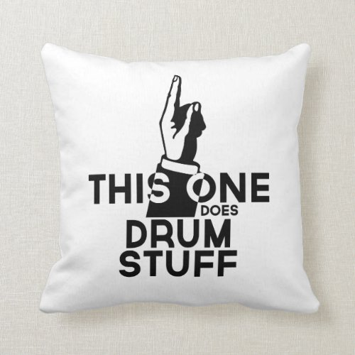 Drums Stuff _ Funny Drums Music Throw Pillow