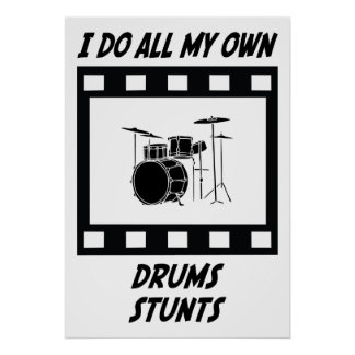 Drums Stunts Poster