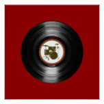 drums vinyl record for walls poster