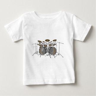 Drums: White Drum Kit: 3D Model: Baby T-Shirt