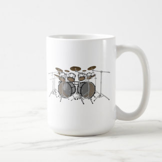 Drums: White Drum Kit: 3D Model: Coffee Mug