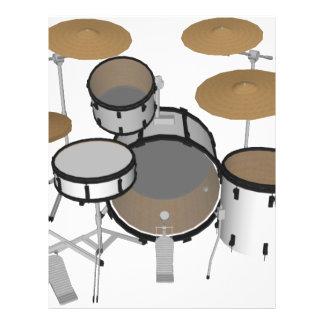 Drums: White Drum Kit: 3D Model: Flyer