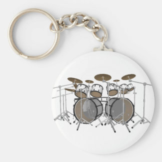 Drums: White Drum Kit: 3D Model: Key Chains
