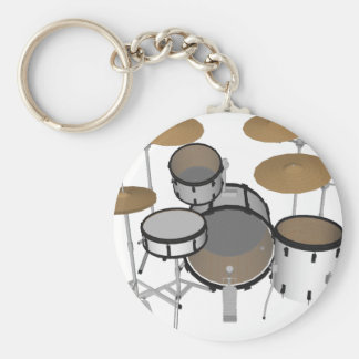 Drums: White Drum Kit: 3D Model: Keychain