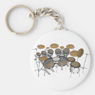 Drums: White Drum Kit: 3D Model: Key Chain
