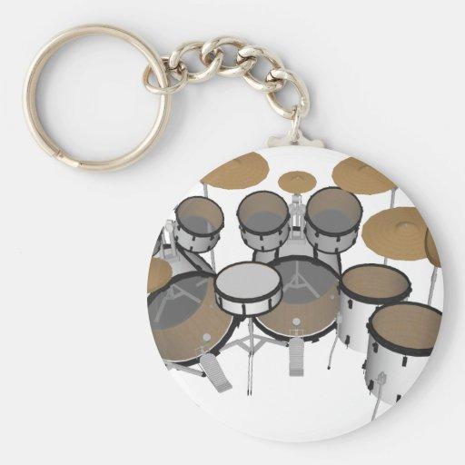 Drums: White Drum Kit: 3D Model: Keychains