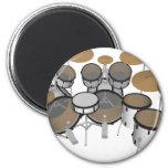 Drums: White Drum Kit: 3D Model: Refrigerator Magnets