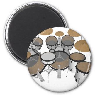 Drums: White Drum Kit: 3D Model: 2 Inch Round Magnet