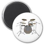 Drums: White Drum Kit: 3D Model: Refrigerator Magnet