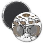 Drums: White Drum Kit: 3D Model: Magnet