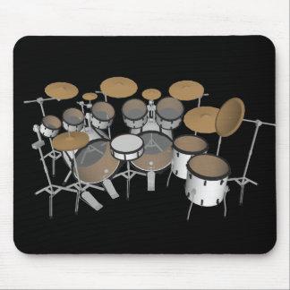 Drums: White Drum Kit: 3D Model: Mousepad