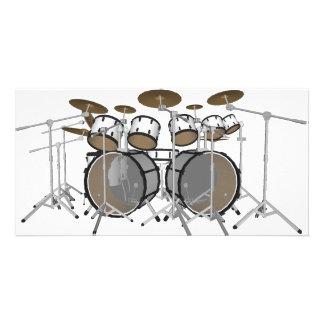 Drums: White Drum Kit: 3D Model: Photo Card