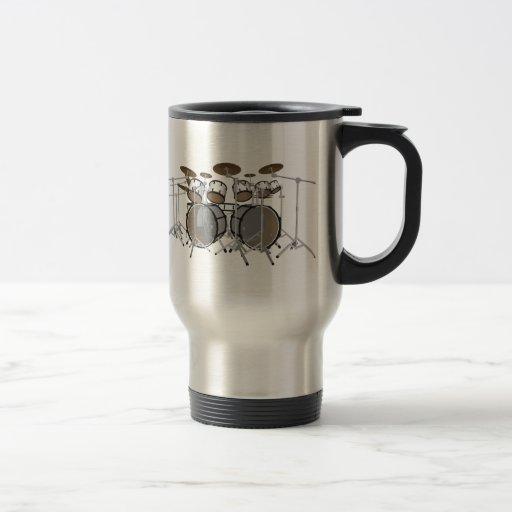 Drums: White Drum Kit: 3D Model: Travel Mug