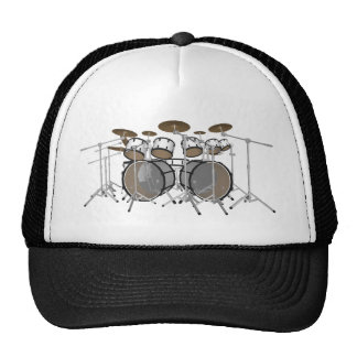 Drums: White Drum Kit: 3D Model: Trucker Hat