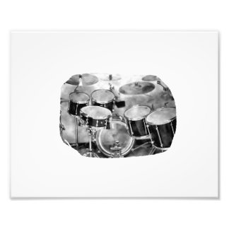 Drumset Black and White Photograph Design