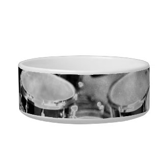 Drumset Black and White Photograph Design Bowl