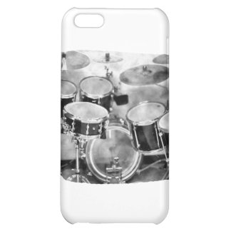 Drumset Black and White Photograph Design Case For iPhone 5C