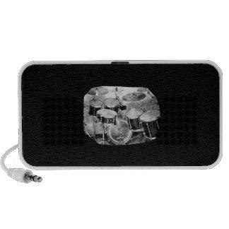 Drumset Black and White Photograph Design Mp3 Speaker