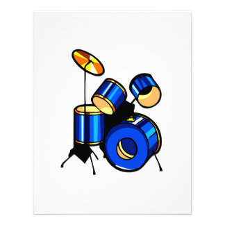 Drumset Graphic Blue version trap set image Invite