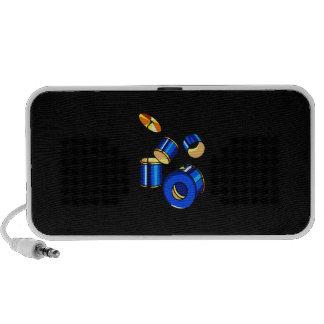 Drumset Graphic Blue version trap set image iPhone Speaker