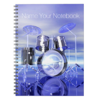 Drumset on the Beach Music Notebook