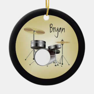 Drumset personalizó el ornamento del navidad adornos de navidad