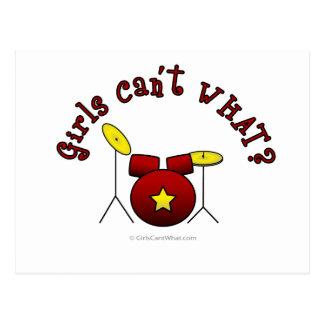 Drumset - Red Postcard