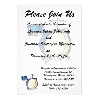 drumset simple three piece blue.png custom invitations