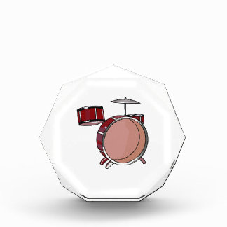 drumset simple three piece red.png acrylic award