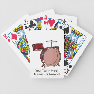 drumset simple three piece red.png bicycle playing cards